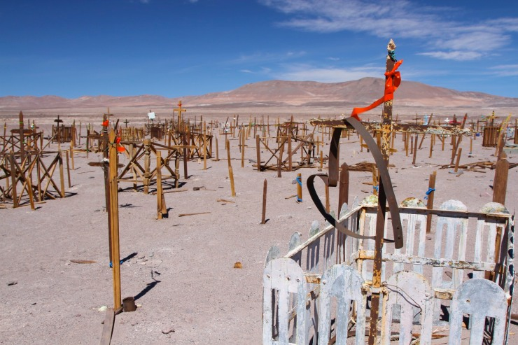 Cemetery in the Atacama Desert, Chile