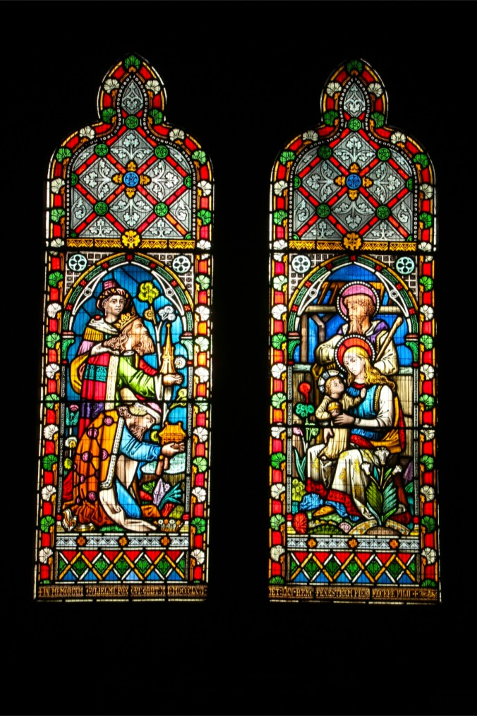 Stained glass window, St. Bees Priory, Cumbria, England