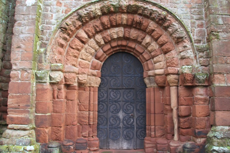 Norman doorway, St. Bees Priory, Cumbria, England