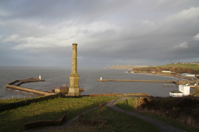Whitehaven harbour and Candlestick Chimney, Cumbria, England