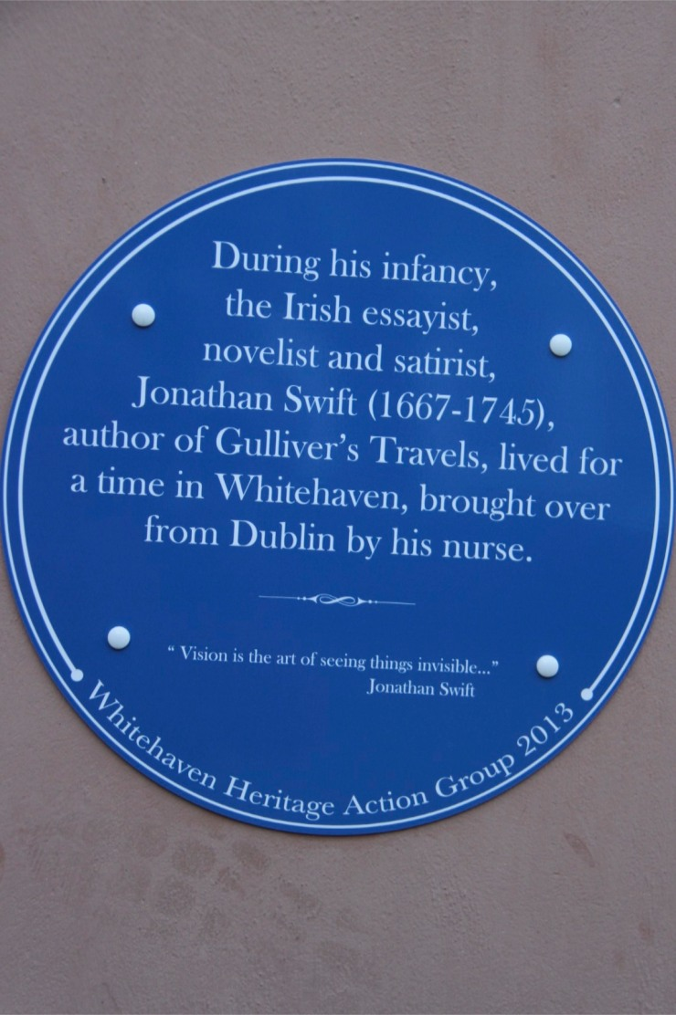 Plaque to Jonathan Swift, Whitehaven, Cumbria, England