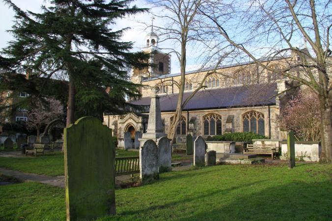 St. Mary the Virgin Church, Mortlake, London, England