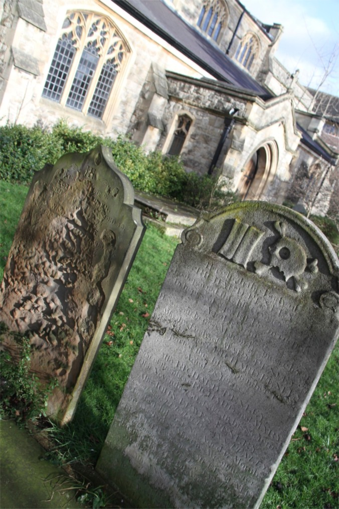 Gravestone, St. Mary the Virgin Church, Mortlake, London, England