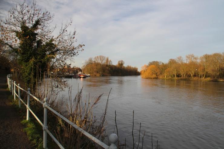 The River Thames near Richmond Locks, London, England