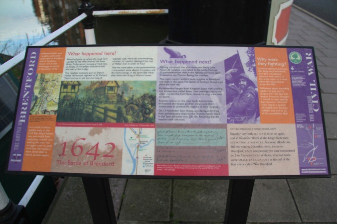 Site of the Battle of Brentford, London, England
