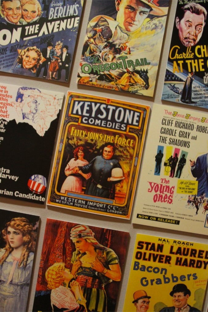 Film posters, Musical Museum, London, England