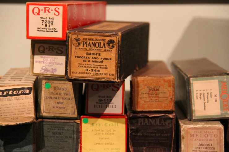 Rolls of music paper, Musical Museum, London, England