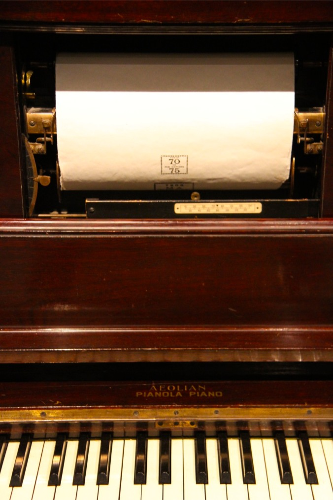 Paper roll and piano, Musical Museum, London, England