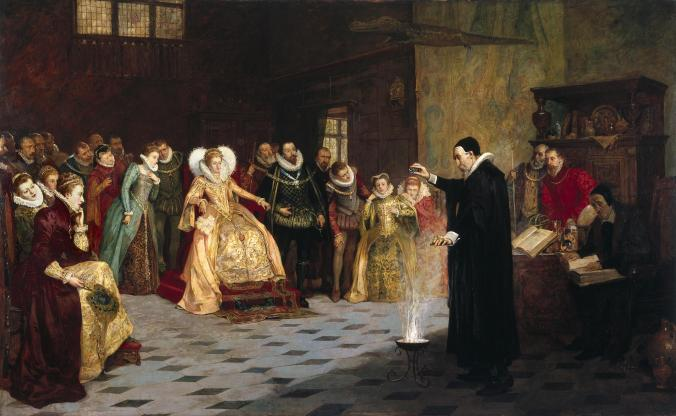 John Dee demonstrating an experiment at Court, © The Wellcome Trust