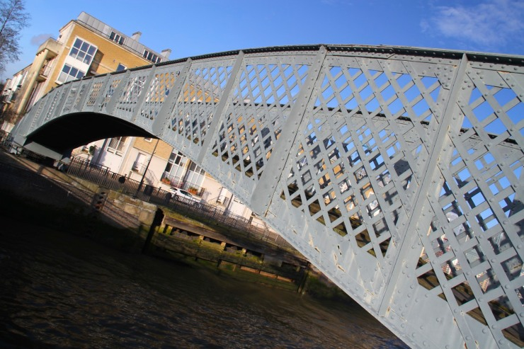 Old swing bridge, Greenland Dock, Deptford, London, England