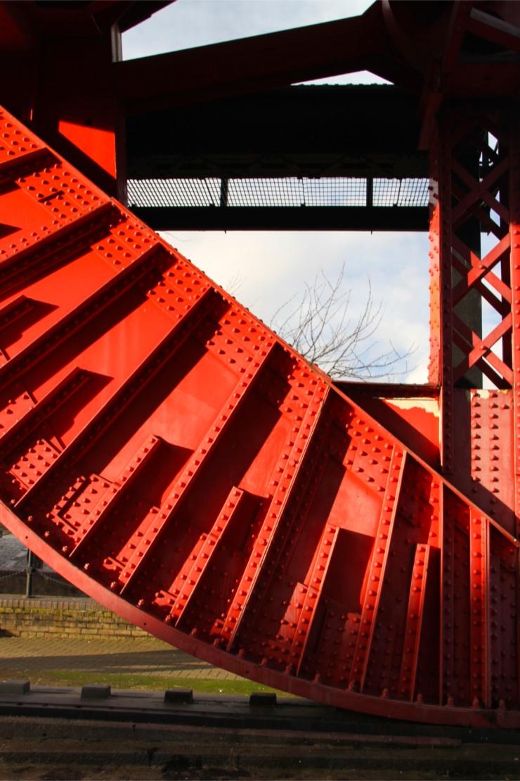 Swing bridge at Surrey Dock, Rotherhithe, London, England