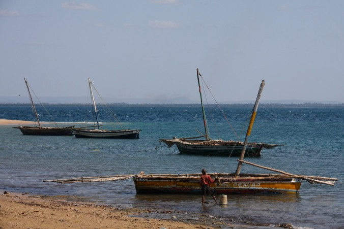 Fishing boats in the Indian Ocean, Pemba, Mozambique