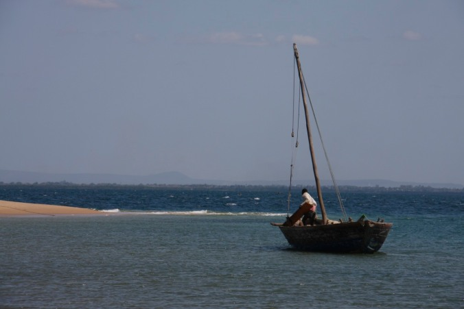 Beach and boats, Bairro de Paquitequete, Pemba, Mozambique, Africa