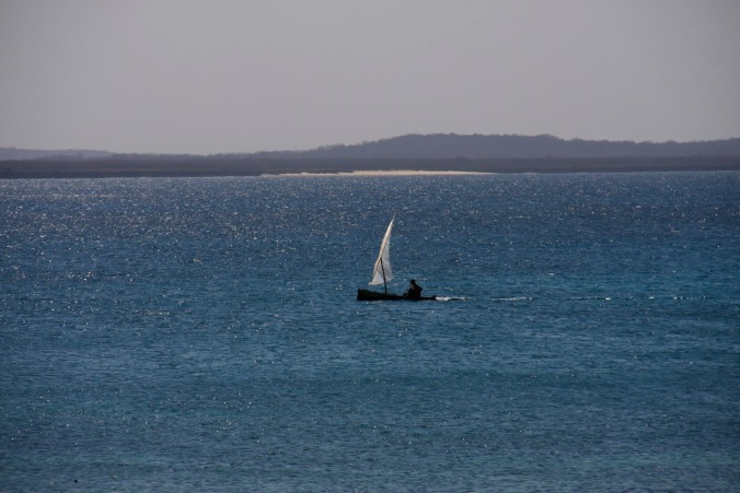Fishing boat near Wimbe Beach, Pemba, Mozambique, Africa