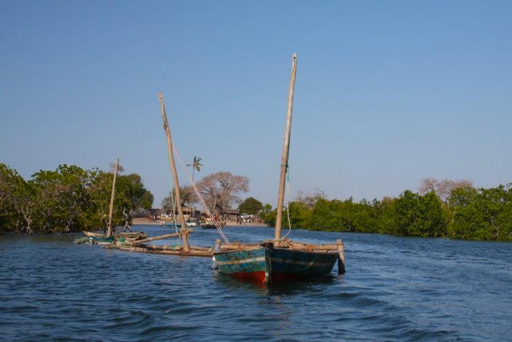 The port of Tandanhangue, Quirimbas Archipelago, Mozambique