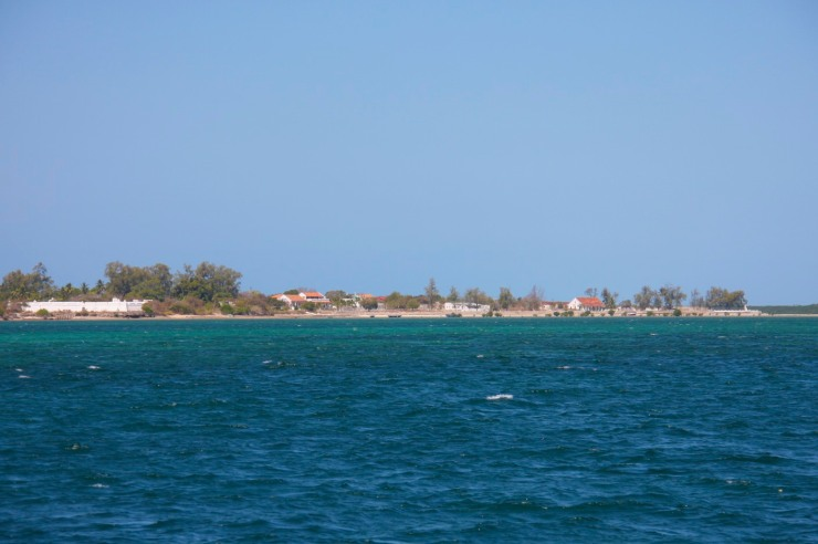 Fort of São João from the ocean, Ibo Island, Mozambique, Africa