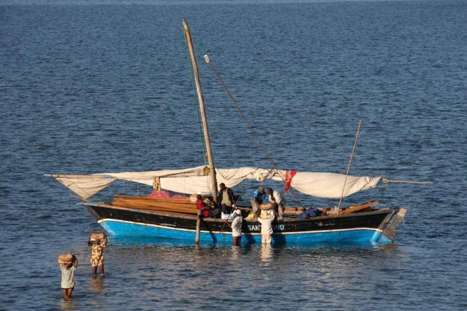 Fishing boat, Ibo Island, Mozambique, Africa