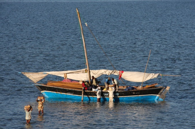 Fishing boat, Ibo Island, Mozambique, Africa