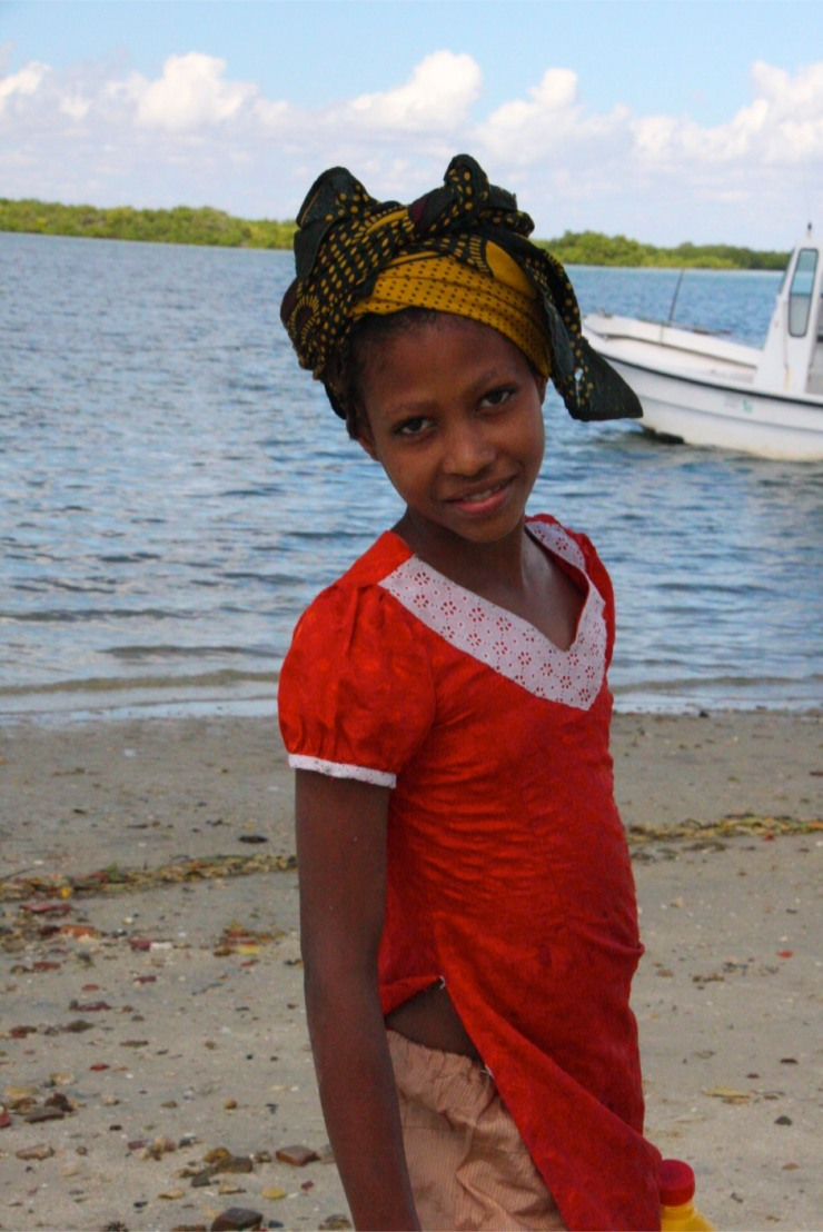 Young girl poses on the beach, Ibo Island, Mozambique, Africa