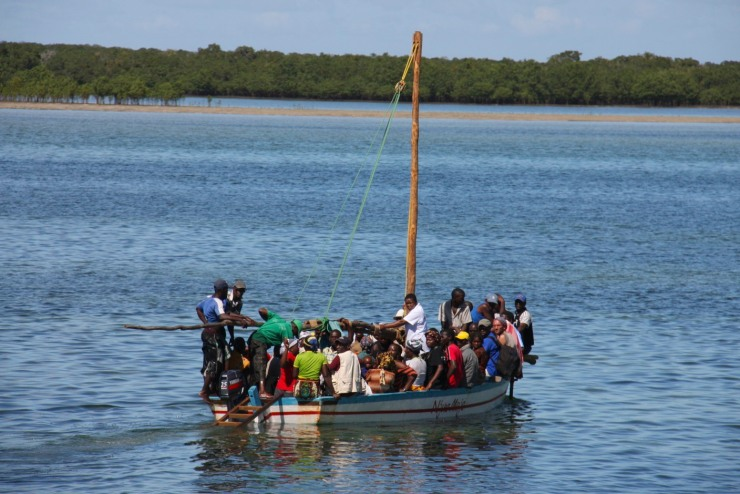 Overcrowded ferry boat, Ibo Island, Mozambique, Africa
