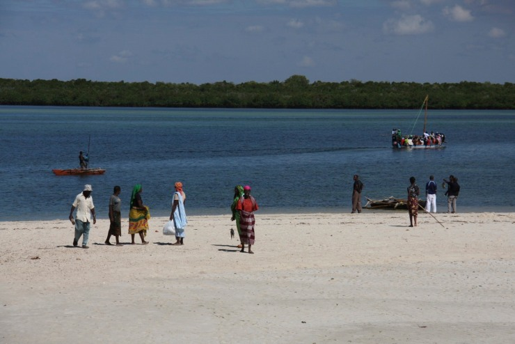 People on the beach, Ibo Island, Mozambique, Africa