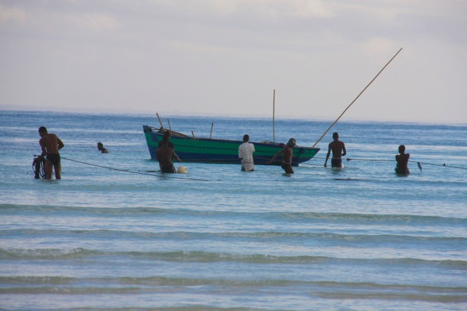 Fishing, Wimbe Beach, Pemba, Mozambique, Africa