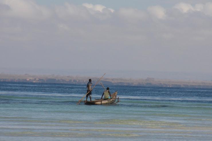Boat near Wimbe Beach, Pemba, Mozambique, Africa