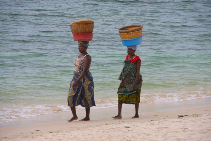 Women on Wimbe Beach, Pemba, Mozambique, Africa
