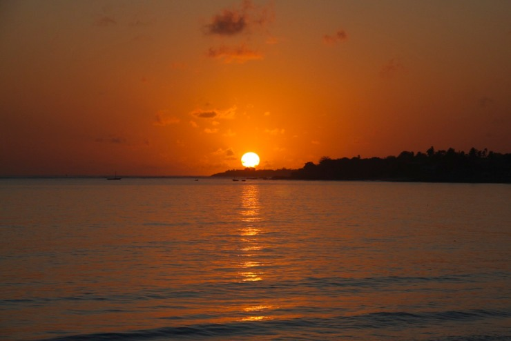Sunrise over Wimbe Beach, Pemba, Mozambique, Africa