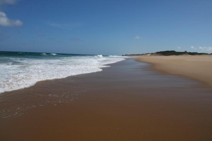 Beach and Indian Ocean, Bilene, Mozambique