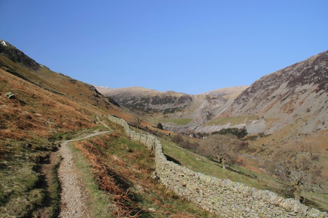 Heading towards Greenside Mine, Helvellyn, Lake District, England