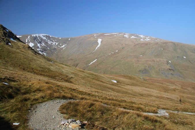 View of Raise and Glenridding Common, Helvellyn, Lake District, England