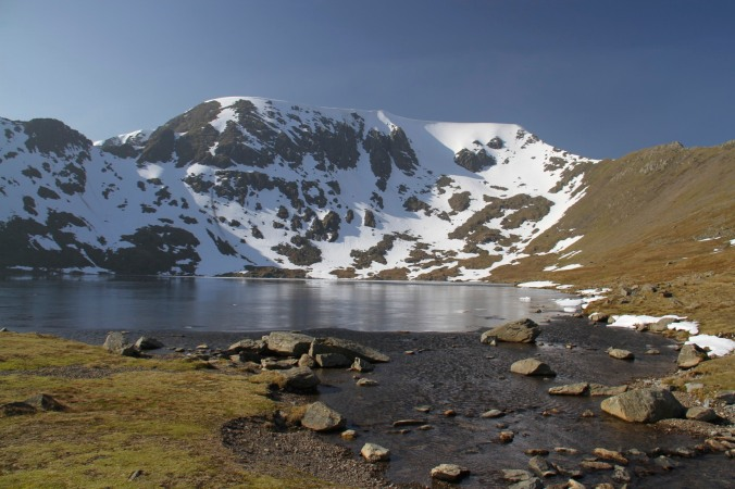 Helvellyn and Red Tarn, Lake District, England