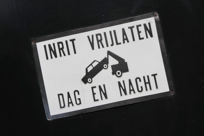 Road sign, The Hague, The Netherlands