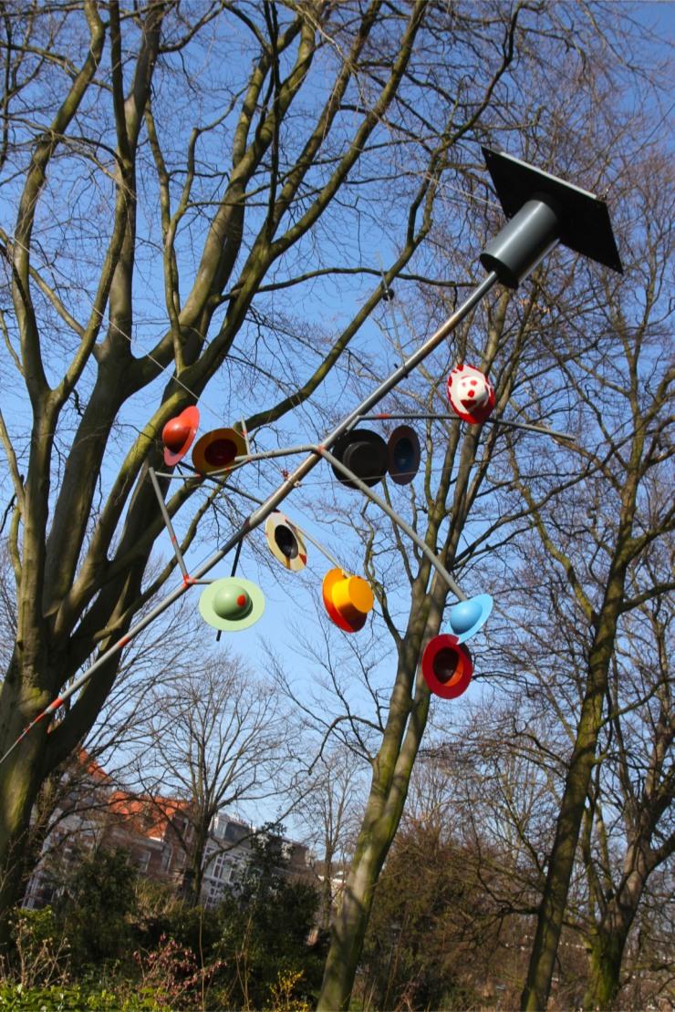 Hat sculpture, The Hague, The Netherlands