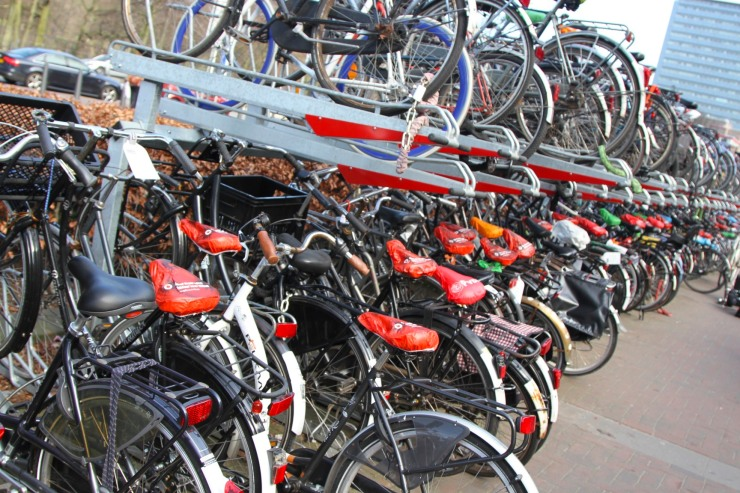 Bikes as far as the eye can see, The Hague, The Netherlands