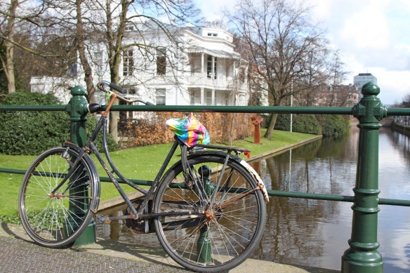Bike and canal, The Hague, Netherlands