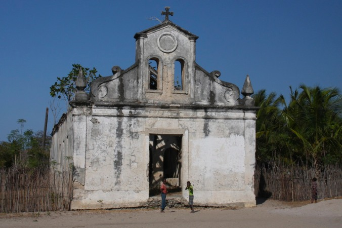 Portuguese colonial church, Quirimba Island, Quirimbas Archipelago, Mozambique, Africa