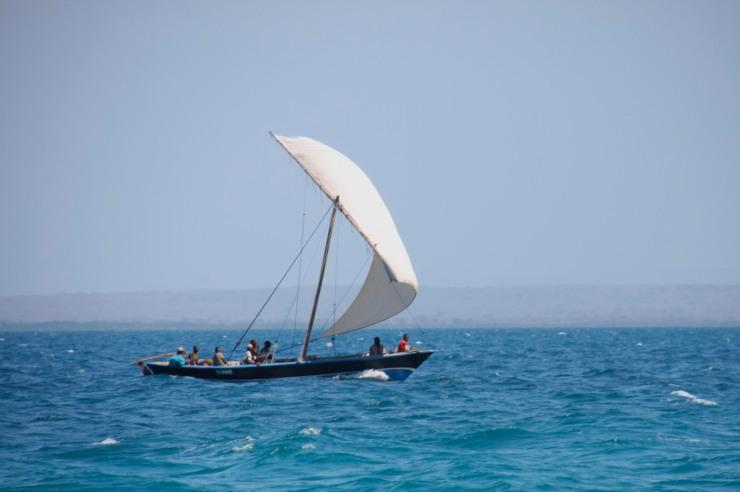 Sailing boat, Quirimba Island, Quirimbas Archipelago, Mozambique, Africa