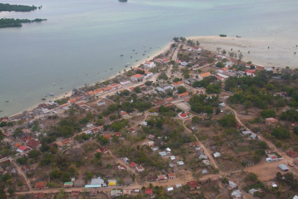 Ibo Island from the air, Mozambique, Africa