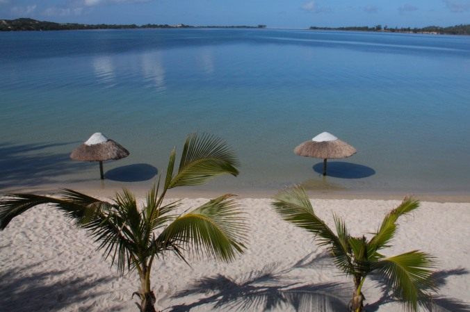View over the lagoon, Bilene, Mozambique, Africa