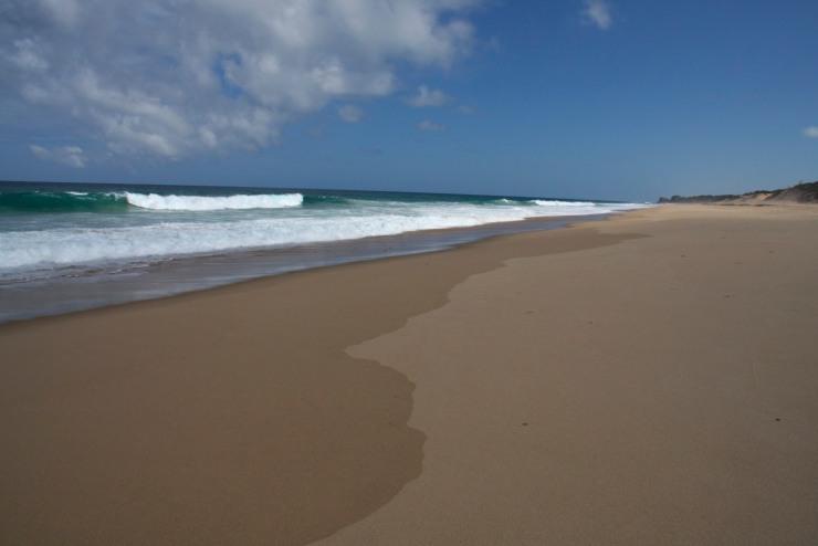 The beach at Bilene, Mozambique, Africa