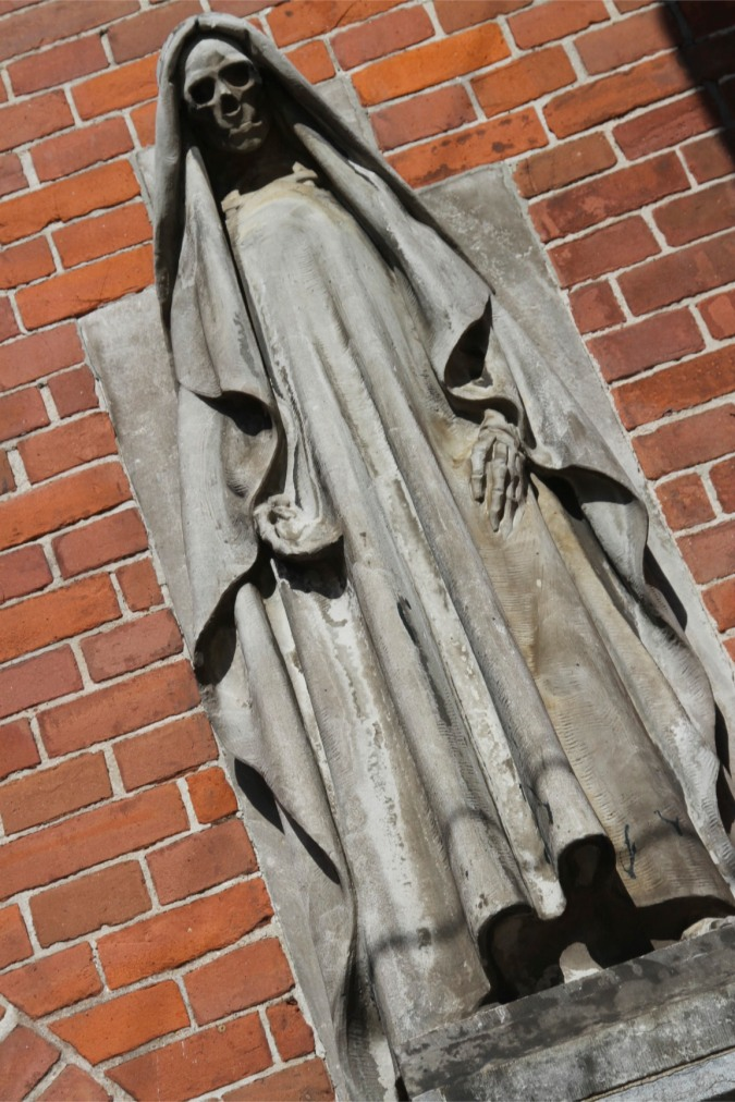 Death represented on a wall near Grote Kerk, The Hague, Netherlands