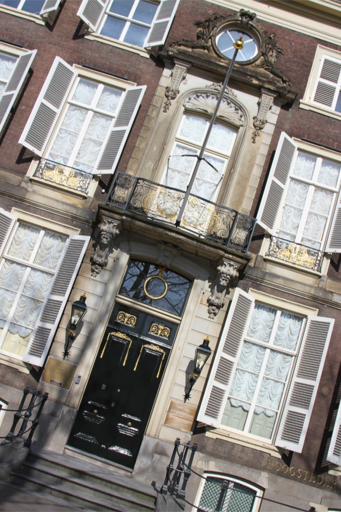 Facade of a building in The Hague, Netherlands