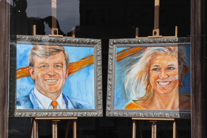Portraits of King Willem-Alexander and Queen Máxima, The Hague, Netherlands