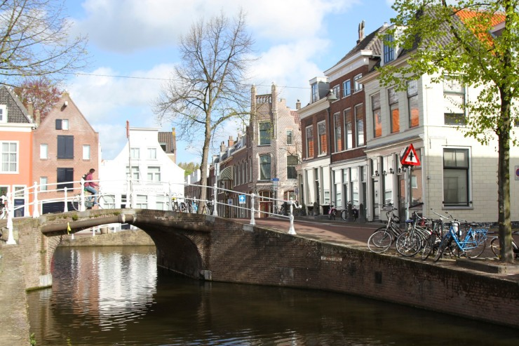 Canal and bridge, Delft, Netherlands