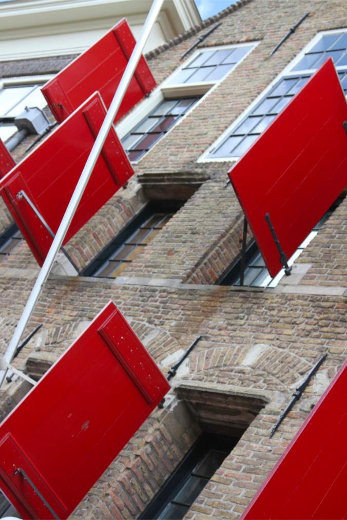 Wooden shutters, Delft, Netherlands