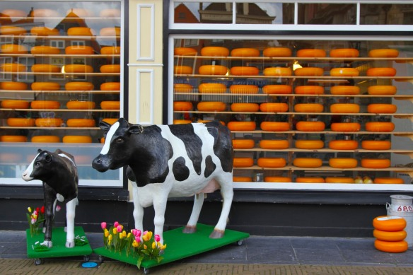 A giant cheese photo opportunity, Delft, Netherlands