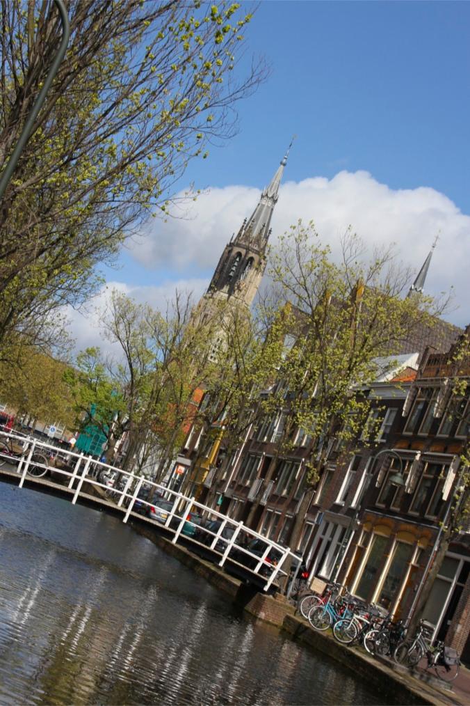Canal and Nieuwe Kerk, Delft, Netherlands