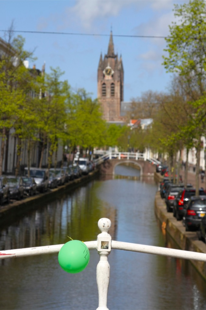 Canal and Oude Kerk, Delft, Netherlands